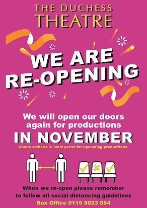 Theatre reopening November 2020